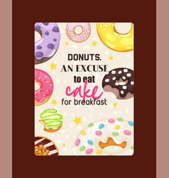 Donut doughnut food glazed sweet dessert vector