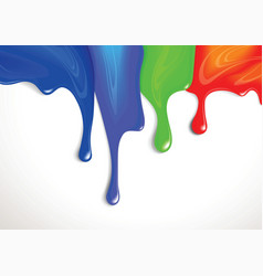 Drips of paint vector