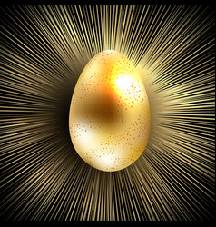 easter composition of eggs and rays of golden vector image