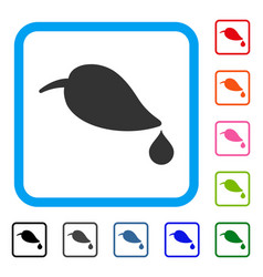 ecology framed icon vector image
