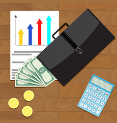 Economic and financial growth business vector