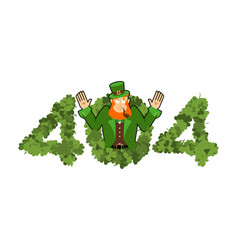 error 404 leprechaun is surprise page not found vector image