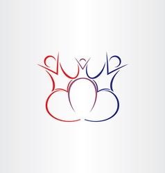 family love symbol design vector image