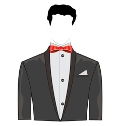 Festive suit with bow vector image vector image