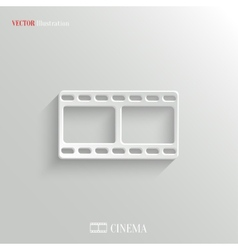 Film icon - white app button vector
