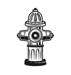 Fire hydrant detailed vintage vector