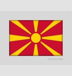 Flag of macedonia national ensign aspect ratio 2 vector