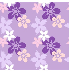 floral silhouettes pattern lilac vector image