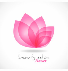 flower symbol abstract beauty salon cosmetics vector image