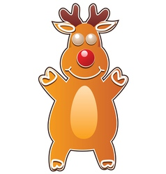 Gingerbread cookie - rudolph deer vector