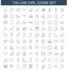girl icons vector image