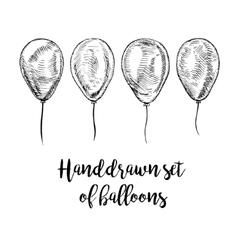 Hand drawn set of balloons vector