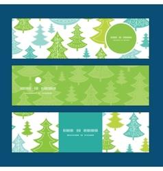holiday christmas trees horizontal banners vector image