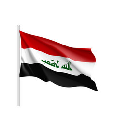 iraq national flag realistic vector image
