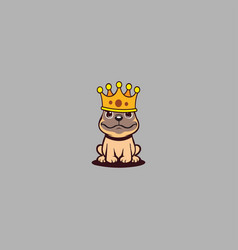 king dog on grey background vector image