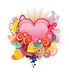 Love heart valentines or wedding the layers vector