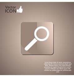 Magnifier icon as a button vector image