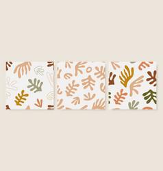 matisse inspired seamless patterns set design vector image