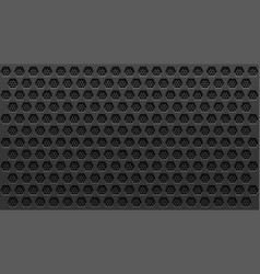 Metal black perforated background with holes vector