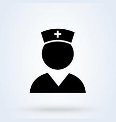 nurse icon female doctor medical worker vector image