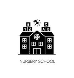 Nursery school black glyph icon vector