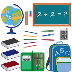 Objects for education vector