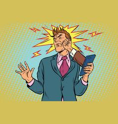 Online punch fight scandal feud businessmen vector