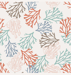 pattern with coral vector image