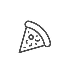 pizza line icon vector image