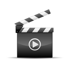 Player icon - film slate or movie clapboard vector