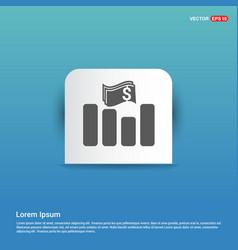 progress graph icon - blue sticker button vector image