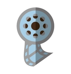 Reel film movie wheel icon shadow vector