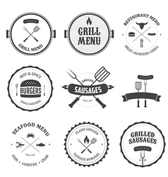 Restaurant menu vintage design elements set vector image