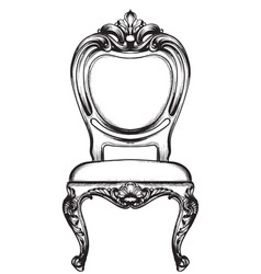 rich classic armchair royal style decotations vector image