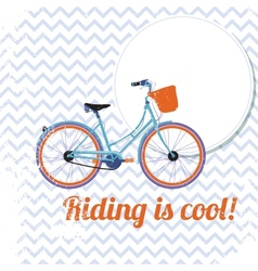Riding is cool vector image