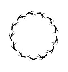 Rustic branches in the circle design vector
