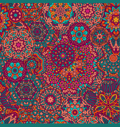 seamless pattern mandala ornament vector image