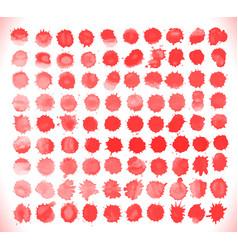 set of blood drops splatter vector image vector image