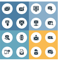 Set of simple mail icons vector