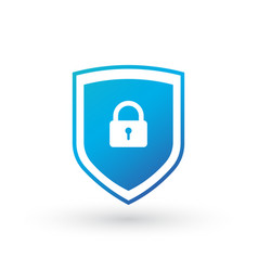 shield security with lock symbol protection vector image