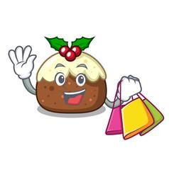 Shopping fruit cake character cartoon vector