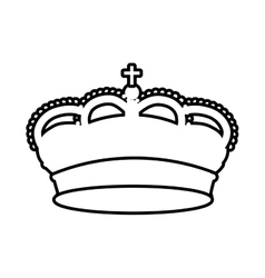 Spain shield crown isolated icon vector