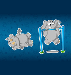 Stickers elephants turnstile to pull-up vector