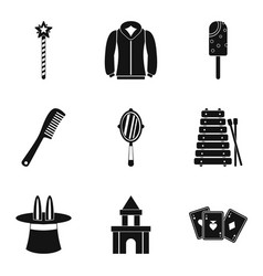 stunt icons set simple style vector image