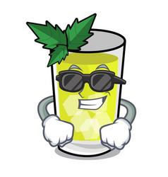 super cool mint julep character cartoon vector image