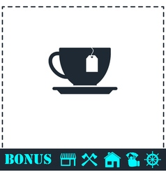 Tea icon flat vector image