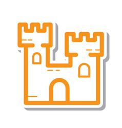 Thin line sand castle icon vector