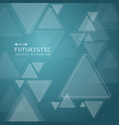 triangle technology futuristic pattern on vector image