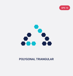 two color polygonal triangular recycle icon from vector image