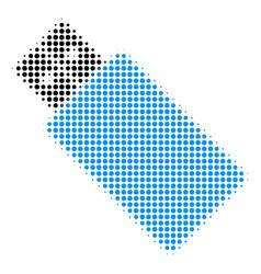 usb flash drive halftone icon vector image